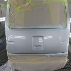 ダイハツのハイゼットカーゴ(EBD-S321V):リアゲート他板金塗装 部品金額4,380円 技術料55,000円/合計金額(税込み)64,130円