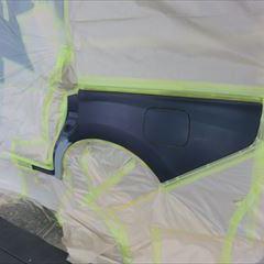 ホンダのステップワゴンスパーダ(DBA-RP3):左スライドドア、クォーターパネル板金、塗装 作業工賃150,000円/合計金額(税込)162,000円