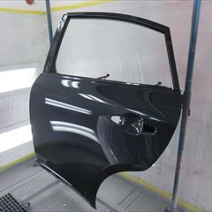 トヨタのハリアー(DBA-ZSU65W):左リアドア、ベルトモール他の交換 部品代金53,320円/左クォーターパネル板金、塗装 作業工賃190,000円/合計金額(税込)262,785円