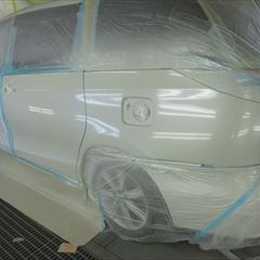 トヨタのエスティマ(DBA-ACR50W):左クォーターパネル板金塗装 作業工賃120,000円/合計金額(税込)129,600円