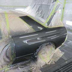 日産のGT-R(E-BNR32):左クォーターパネル板金塗装 作業工賃110,000円/合計金額(税込)118,800円