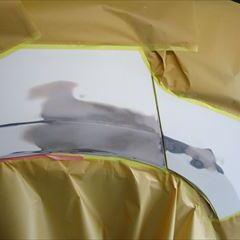 日産のラフェスタ(DBA-CWEFWN):リアバンパー、左テールランプ交換 部品代金73,500円/バックパネル、リアゲート、左クォーターパネル板金塗装 作業工賃169,500円