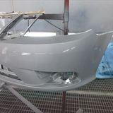 サーブの93シリーズ(ABA-FB207):フロントバンパー脱着、修理、塗装 作業工賃71,400円/合計金額(税込)77,112円