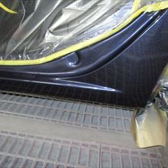 ボルボのXC60:リアバンパー、フロントバンパー他の交換、コアサポート板金、塗装など
