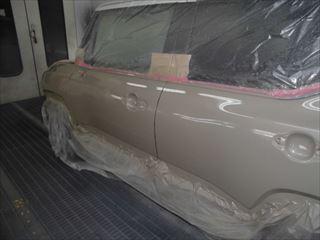 クロスビー左ドア塗装後