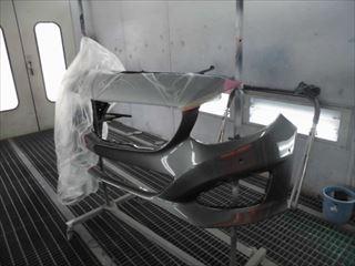 Bクラスフロントバンパー塗装後