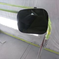 トヨタのヴァンガード(DBA-ACA33W):左リアドア、左クォーターパネル他の交換、リアバンパーの脱着、塗装
