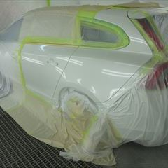 ボルボのV60(DBA-FB4164T):左クォーターパネル板金塗装 作業工賃120,000円 合計金額(税込み)129,600円