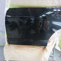 ホンダのオデッセイ(DBA-RB1):左リアドア、クォーターパネル、フロントバンパー、リアバンパー板金、塗装