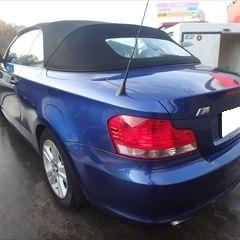 BMWの1シリーズ(ABA-UL20):リアバンパー脱着・修理、左テールランプ、右テールランプ脱着、塗装など 作業工賃95,680円/合計金額(税込)103,334円
