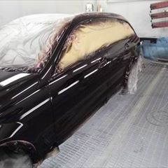 メルセデスベンツのCクラスステーションワゴン(DBA-204249):フロントフェンダー、フロントバンパー、ボンネット他の板金塗装、左ヘッドライト、フロントグリル他の交換、塗装など