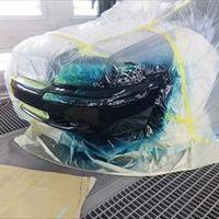 ボルボのV40(GF-4B4204W):フロントバンパー修理、塗装 作業工賃40,000円/合計金額(税込)43,200円