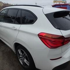 BMWのX1(LDA-HT20):左リアドア、左クォーターパネル、ガーニッシュ修理、塗装 作業工賃160,000円/合計金額(税込)172,800円