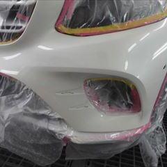 メルセデスベンツのGLC(DBA-253942C):フロントバンパー左側修理、塗装 作業工賃95,000円(税込)