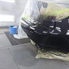 レクサスのIS(DBA-GSE20):左サイドステップ交換、右クォーターパネル板金塗装、フロントバンパー、リアバンパー修理塗装など