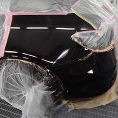 メルセデスベンツのGLC(CBA-253964):左クォーターパネル、アーチモール、リアバンパー修理、塗装 作業工賃180,000円(税込)