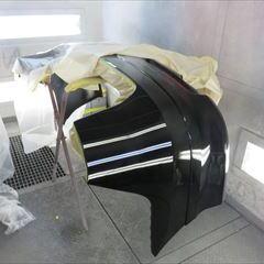 ホンダのエリシオン(DBA-RR4):左クォーターパネル、リアバンパー板金、塗装 作業工賃115,000円/合計金額(税込)124,200円