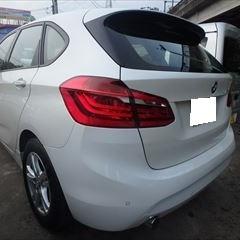 BMWの2シリーズ(LDA-2C20):左リアバンパー修理、塗装 作業工賃48,000円/合計金額(税込)51,840円