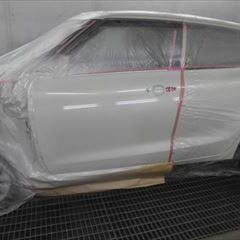 スズキのスイフト:左フロントまわり板金塗装 作業工賃80,000円/86,400円