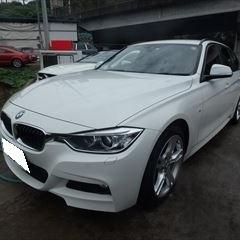 BMWの3シリーズ(LDA-3D20):フロントバンパー板金、塗装、12カ月点検、エンジンオイル交換など