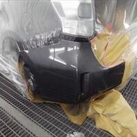 トヨタのプリウスα(DAA-ZVW41W):左リアバンパー修理、塗装 作業工賃36,000円/合計金額(税込)38,880円