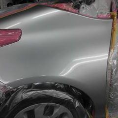 トヨタのシエンタ(DAA-NHP170G):左フロントフェンダ板金、塗装 作業工賃50,000円/合計金額(税込)54,000円