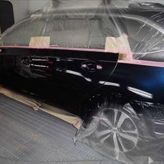スバルのレガシィアウトバック(DBA-BS9):傷の修理方法と費用 左リアドア、左クォーターパネル板金、塗装 作業工賃140,000円(税込)