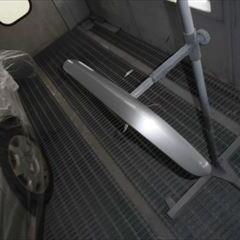 メルセデスベンツのCクラス(GH-203046):バンパー左モール交換 部品代金11,700円/フロントバンパー修理、塗装 作業工賃100,000円/合計金額(税込)120,636円