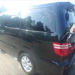 トヨタのアルファードG(DBA-ANH10W):左リアドア、左ロックピラー板金、塗装 作業工賃148,000円(税込)