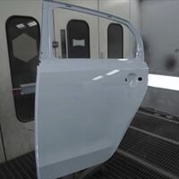 フォルクスワーゲンのアップ!(DBA-AACHY):リアドア交換、左フロントドア、ロックピラー、ロッカー板金、塗装