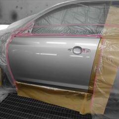 マツダのアクセラスポーツ(DBA-BKEP):傷の修理方法と費用 左フロントドア板金、塗装 作業工賃90,000円(税込)