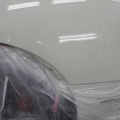 フェラーリのFF(ABA-F151):左リアバンパーストンガード交換、右クォーターパネル板金、塗装