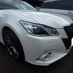 トヨタのクラウンアスリート(DBA-GRS210):フロントバンパーカバー、ヘッドランプユニット、ラジエーターグリル他の交換、フロントフェンダ他の修理、塗装、他