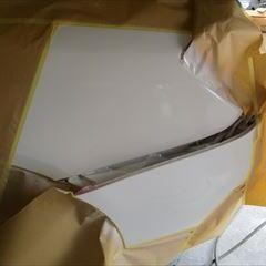 メルセデスベンツのCクラス(RBA-205042)傷の修理方法と費用 左クォーターパネル、リアバンパー板金塗装 作業工賃165,000円